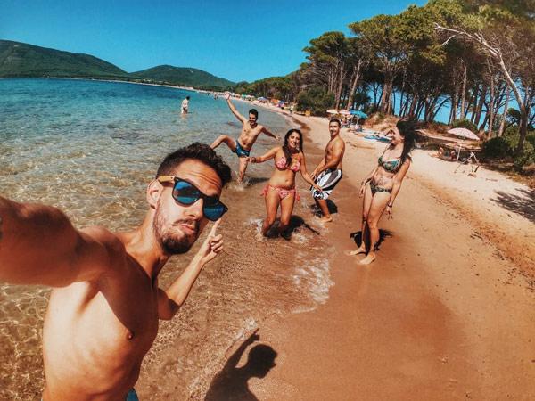 selfie on the beach photo
