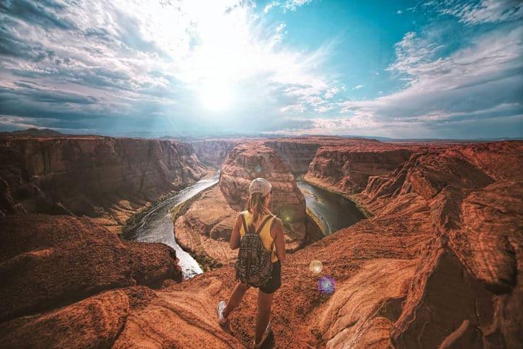 travel nurse in desert photo