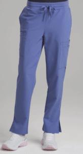 women's blue scrub pants